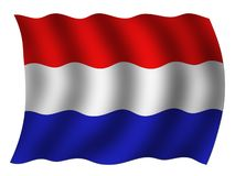 Netherlands flag Royalty Free Stock Photo