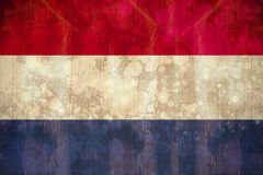 Netherlands flag in grunge effect Stock Photo