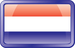 Netherlands Flag Icon Royalty Free Stock Photography