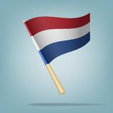 Netherlands flag, vector illustration Royalty Free Stock Photography