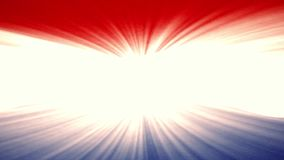 Netherlands flag waving seamless loop with sun light rays new quality unique animated dynamic motion joyful colorful stock footage