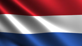 Netherlands flag waving in the wind Stock Photos