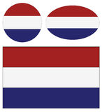 Netherlands flags Royalty Free Stock Photo