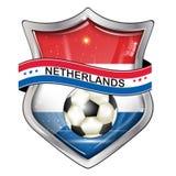 Netherlands football elegant shiny icon Stock Photo