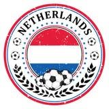 Netherlands football label / sticker Stock Photography