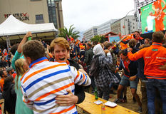 Netherlands football team fans Stock Photos