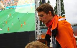 Netherlands football team fans Stock Photography