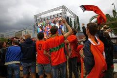 Netherlands football team fans Stock Images