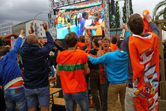 Netherlands football team fans Royalty Free Stock Image