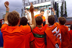 Netherlands football team fans Royalty Free Stock Photos