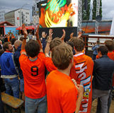 Netherlands football team fans Royalty Free Stock Photo