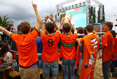 Netherlands football team fans Royalty Free Stock Images