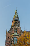 The Netherlands - Groningen. Historic tower of the Academic building of the University of Groningen on a sunny day in the centre of Groningen, against a clear Stock Images