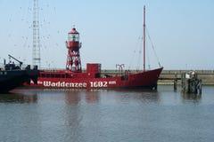 The harbor of Harlingen. Netherlands, Harlingen,-june 2016: Harbour and dock at the Wadden Sea Stock Image