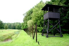 watch-tower of Westerbork transit camp Royalty Free Stock Photography