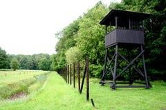 Watch-tower of Westerbork transit camp. Netherlands,Holland,Dutch,Drenthe,Westerbork,august 2016:watch-tower of Westerbork transit camp royalty free stock photography