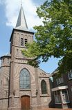 Exterior St Vitus church. Netherlands,Holland,Dutch,Groningen,Winschoten june 2016:Exterior St Vitus church royalty free stock photo