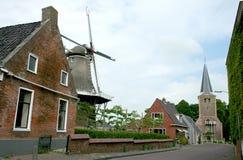 Village view in Winsum. Netherlands,Holland,Dutch,Groningen,Winsum,july 2016:Village view in Winsum stock photos