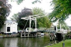 Van Leer Bridge in Vreeland. Netherlands,Holland,Dutch,Utrecht,Vreeland,july 2017:Van Leer Bridge in Vreeland is a drawbridge Royalty Free Stock Photo