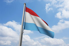 Netherlands / Holland Flag with Clouds Royalty Free Stock Images