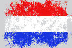 Netherlands,Holland grunge, old, scratched style flag Royalty Free Stock Images
