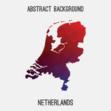 Netherlands,Holland map in geometric polygonal,mosaic style. Royalty Free Stock Photos