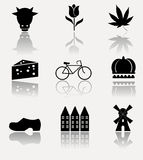 Netherlands icon set. Royalty Free Stock Photo