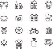 Netherlands icons Royalty Free Stock Photo