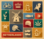 Netherlands icons Stock Photography