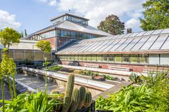 Historic greenhouse in The Hortus botanicus. royalty free stock photography