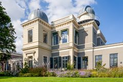 Observatory building of the Leiden University. Stock Images