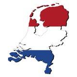 Netherlands map flag Royalty Free Stock Photo