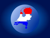 Netherlands map flag sphere Stock Photos