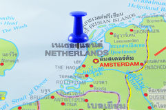 Netherlands map Royalty Free Stock Photos