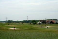 Golfers playing on the Golf-yard in Teteringen. Netherlands,Noord Brabant,Breda,Teteringen, june 2016:Golfers playing on the Golf-yard in Teteringen Royalty Free Stock Photos