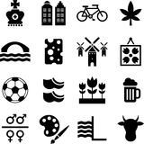 Netherlands pictograms Royalty Free Stock Photos
