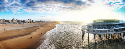 Netherlands pier ( the Hague) Royalty Free Stock Photography