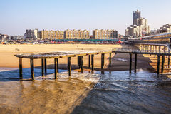 Netherlands pier (the Hague - north sea) Royalty Free Stock Image