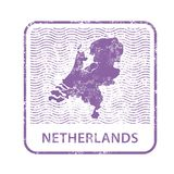 Netherlands postal stamp - outline of Holland country Stock Photo