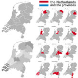 The Netherlands and provinces Stock Photo