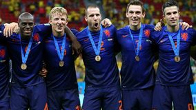 Netherlands 3rd of the World Cup 2014 Royalty Free Stock Images