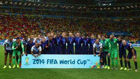 Netherlands 3rd of the World Cup 2014 Royalty Free Stock Photos