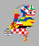 Netherlands regions map Royalty Free Stock Photography