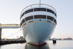 Netherlands, Rotterdam, Cruise ship at harbour Stock Photos