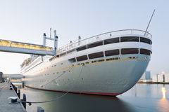 Netherlands, Rotterdam, Cruise ship at harbour Stock Images