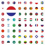 Netherlands round flag icon. Round World Flags Vector illustration Icons Set. Netherlands round flag icon. Round World Flags Vector illustration Icons Set Royalty Free Stock Photography