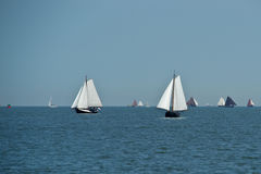 The netherlands sailing boats Royalty Free Stock Photography