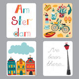 Netherlands set of cards Stock Photography