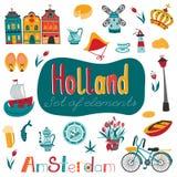 Netherlands set of elements Stock Images