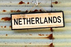 Netherlands sign Royalty Free Stock Images